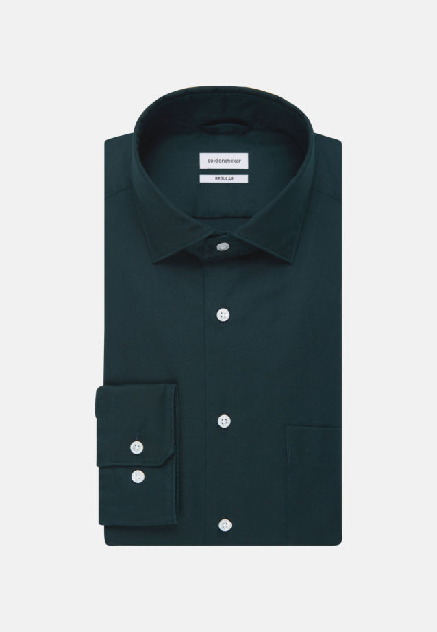 Twill Business Shirt in Regular with Kent-Collar in Green |  Seidensticker Onlineshop