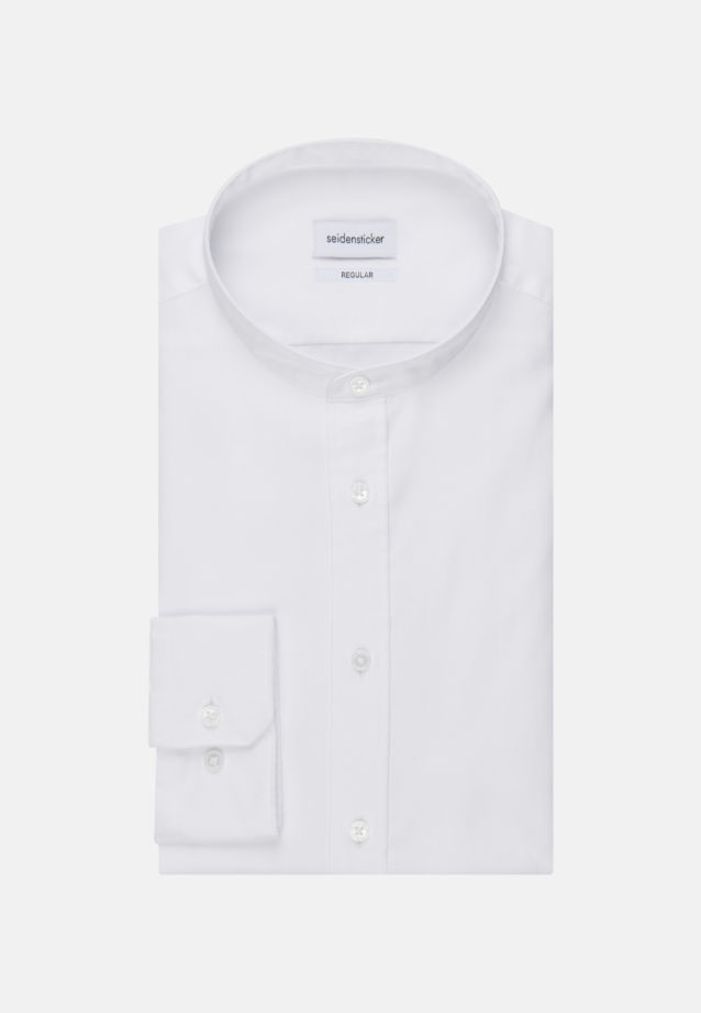 Twill Business Shirt in Regular with Stand-Up Collar in White |  Seidensticker Onlineshop