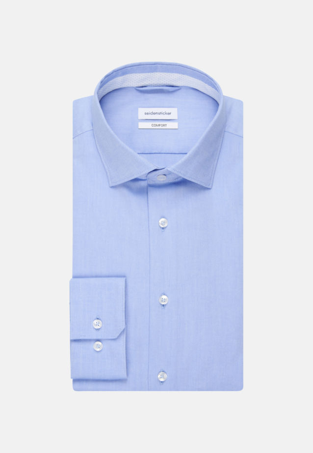 Non-iron Oxford Business Shirt in Comfort with Kent-Collar in Light blue |  Seidensticker Onlineshop