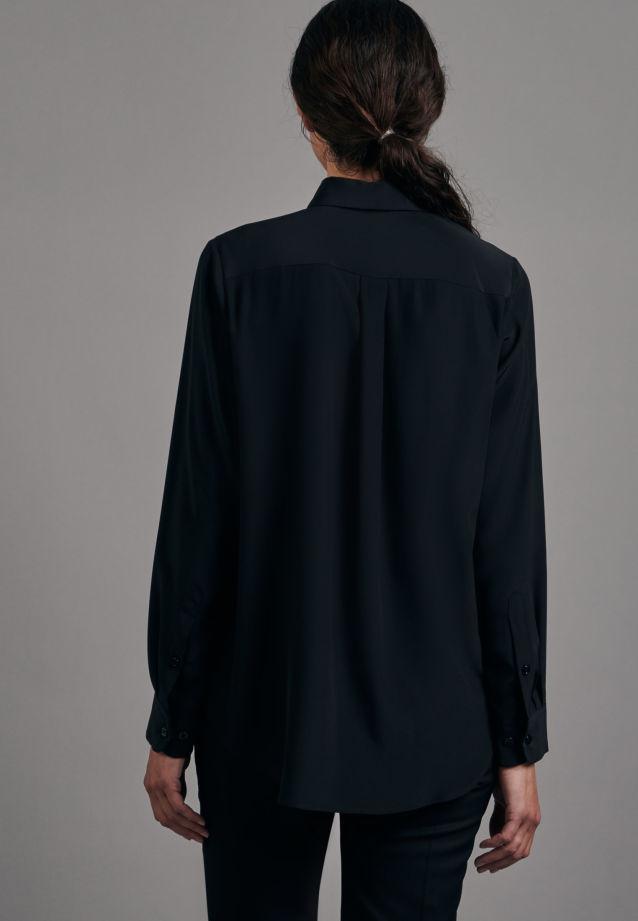 Satin Shirt Blouse made of 100% Silk in Black |  Seidensticker Onlineshop
