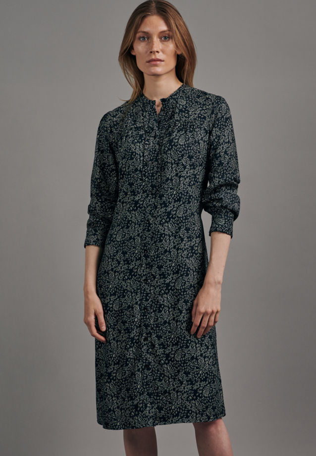Voile Midi Dress made of 100% Viscose in Dark blue |  Seidensticker Onlineshop