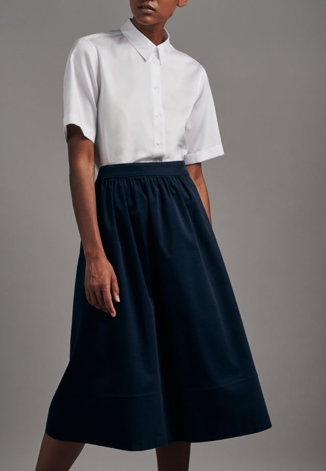 Corduroy Midi Skirt made of 100% Cotton in Dark blue |  Seidensticker Onlineshop