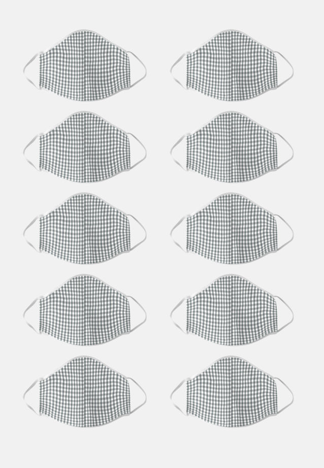 Ten-Pack Mouth and Nose Masks made of 100% Baumwolle in Grau    Seidensticker Onlineshop