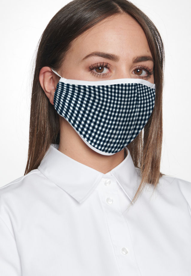 Ten-Pack Mouth and Nose Masks made of 100% Baumwolle in Dark blue |  Seidensticker Onlineshop