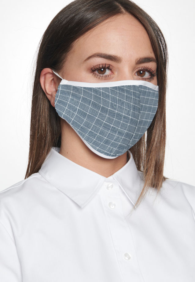 Ten-Pack Mouth and Nose Masks made of 100% Baumwolle in Dunkelblau |  Seidensticker Onlineshop