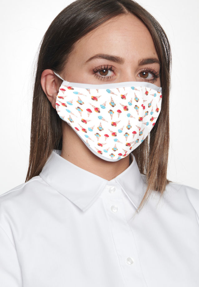 Ten-Pack Mouth and Nose Masks made of 100% Baumwolle in Ice |  Seidensticker Onlineshop