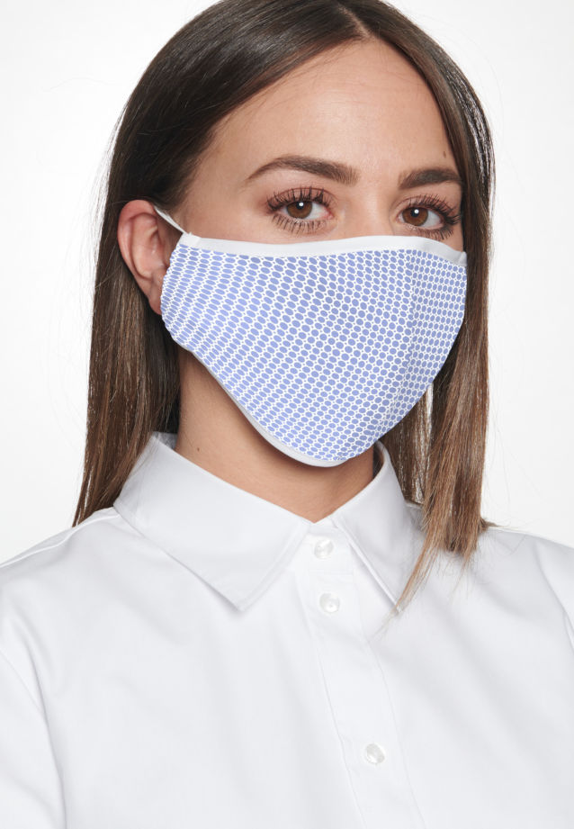 Ten-Pack Mouth and Nose Masks made of 100% Baumwolle in Hellblau |  Seidensticker Onlineshop