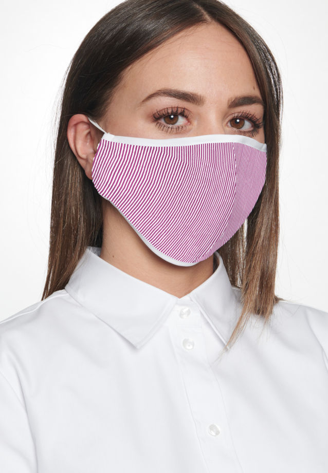 Ten-Pack Mouth and Nose Masks made of 100% Baumwolle in Rot    Seidensticker Onlineshop