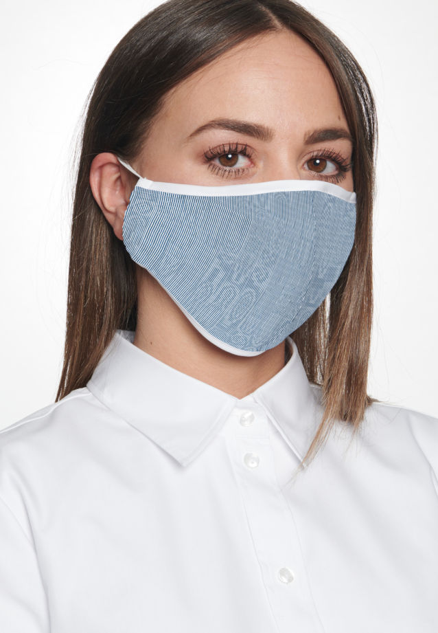 Ten-Pack Mouth and Nose Masks made of 100% Baumwolle in Blau |  Seidensticker Onlineshop