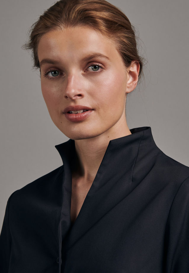 Non-iron Poplin Chalice Blouse made of 100% Cotton in Black |  Seidensticker Onlineshop
