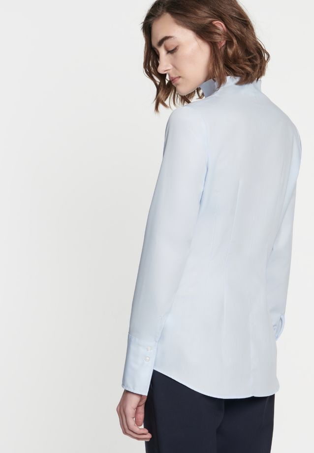 Non-iron Poplin Chalice Blouse made of 100% Cotton in blau |  Seidensticker Onlineshop