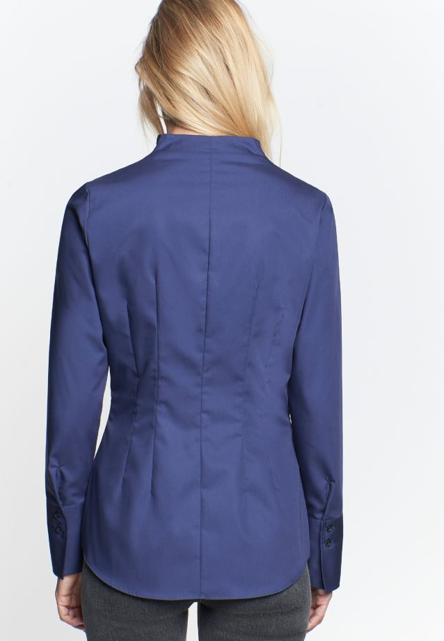 Non-iron Poplin Chalice Blouse made of 100% Cotton in Dark blue |  Seidensticker Onlineshop