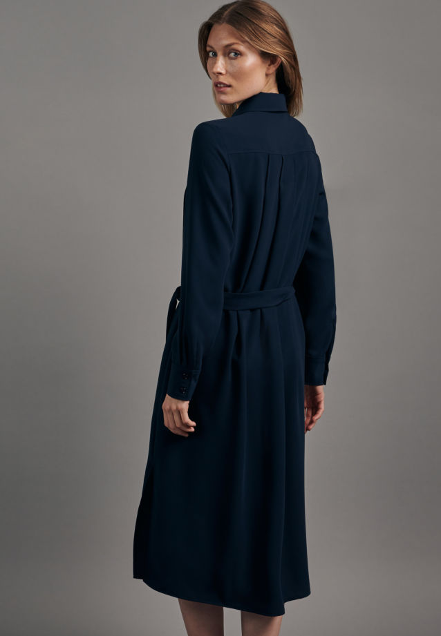 Crepe Maxi Dress made of 100% Polyester in Dark blue |  Seidensticker Onlineshop