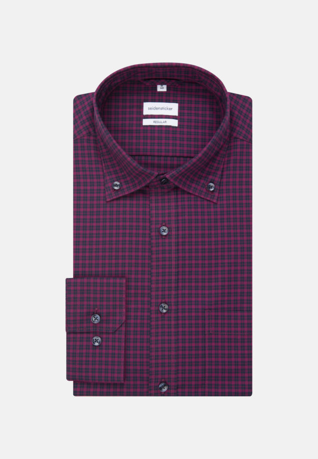 Non-iron Poplin Business Shirt in Regular with Button-Down-Collar in Pink |  Seidensticker Onlineshop