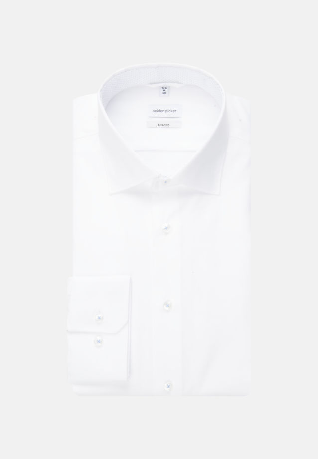 Non-iron Oxford Business Shirt in Shaped with Kent-Collar in Weiß |  Seidensticker Onlineshop