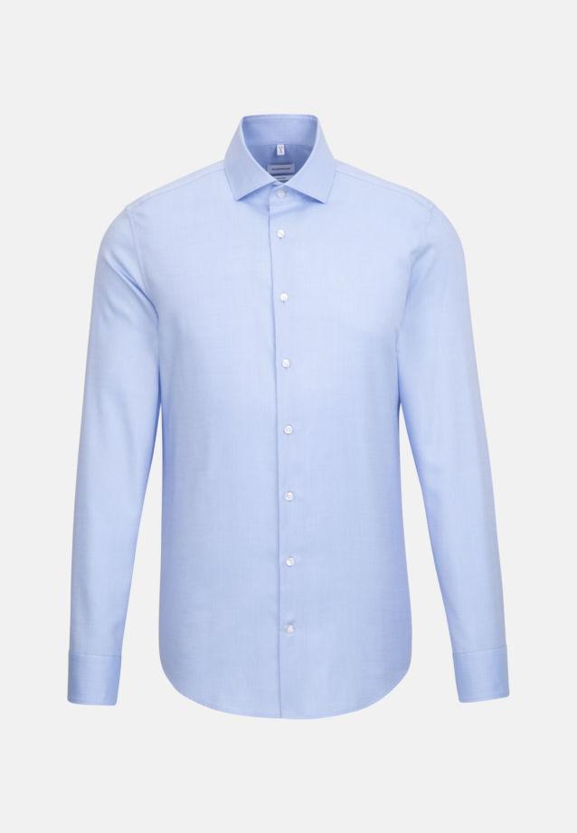 Easy-iron Herringbone pattern Business Shirt in Shaped with Kent-Collar in Light blue |  Seidensticker Onlineshop