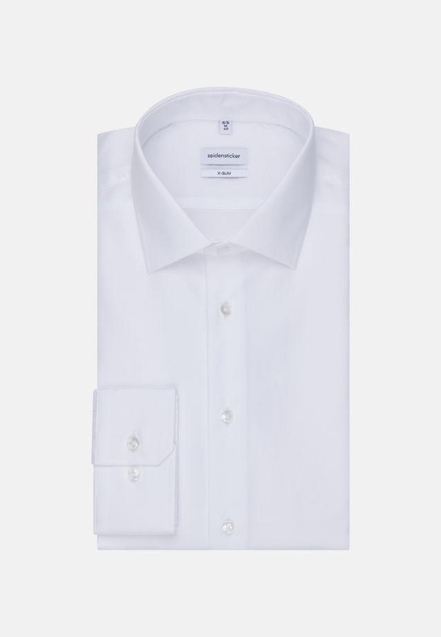 Bügelfreies Struktur Business Hemd in X-Slim mit Kentkragen und extra langem Arm in Weiß |  Seidensticker Onlineshop