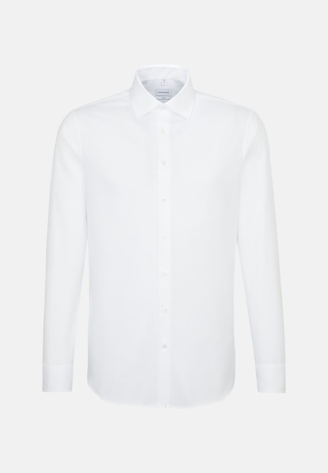 Non-iron Structure Business Shirt in X-Slim with Kent-Collar and extra long sleeve in White |  Seidensticker Onlineshop