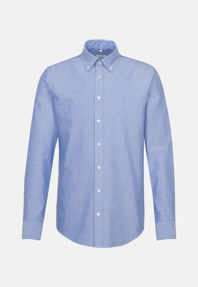 Bügelleichtes Oxford Business Hemd in Slim mit Button-Down-Kragen und extra langem Arm in Hellblau |  Seidensticker Onlineshop
