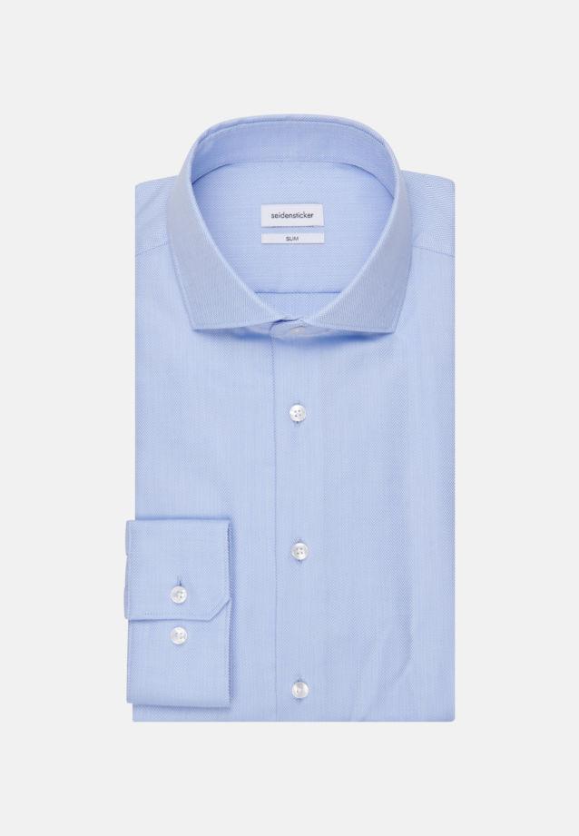 Easy-iron Herringbone pattern Business Shirt in Slim with Kent-Collar in Light blue |  Seidensticker Onlineshop