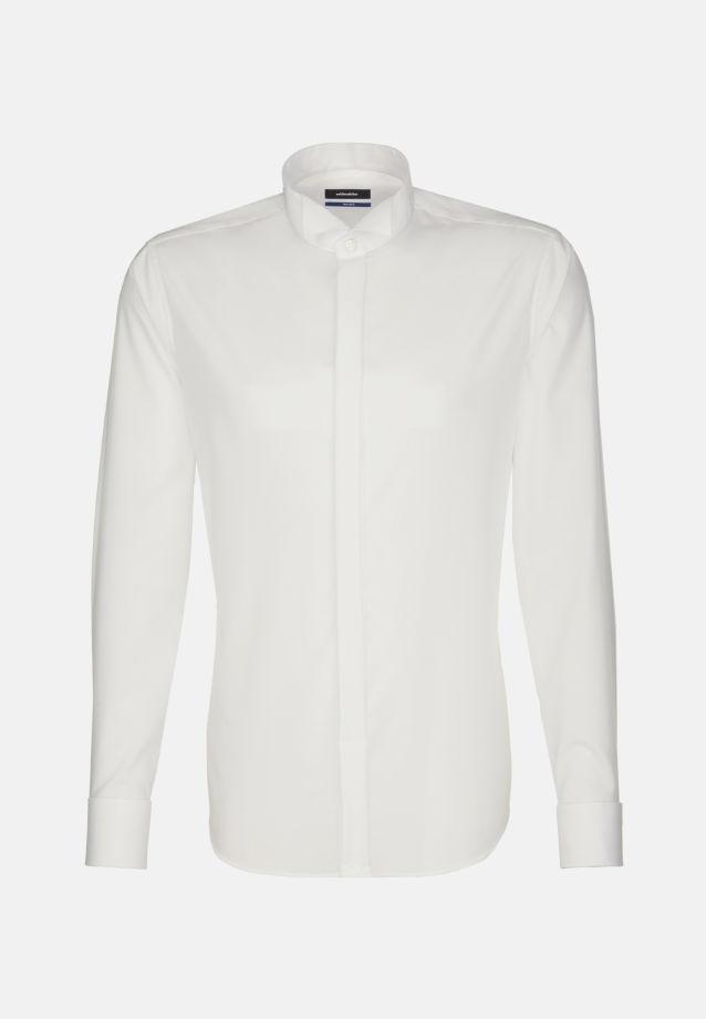 Bügelfreies Popeline Smokinghemd in Tailored mit Kläppchenkragen in ecru |  Seidensticker Onlineshop
