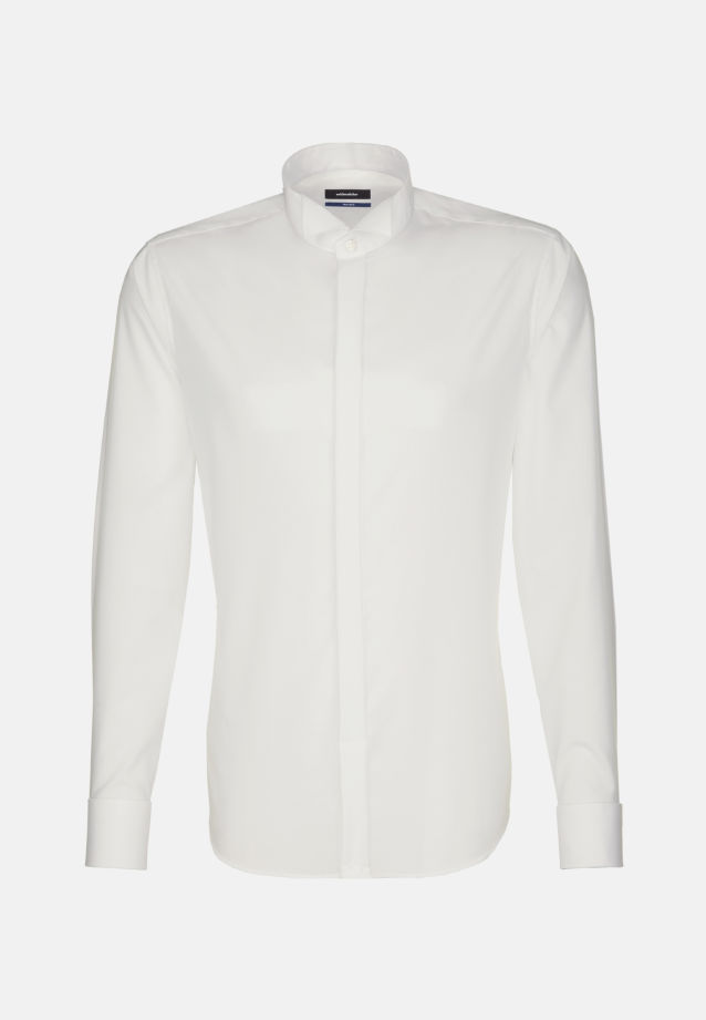 Non-iron Poplin Gala Shirt in Shaped with Wing Collar in Braun |  Seidensticker Onlineshop
