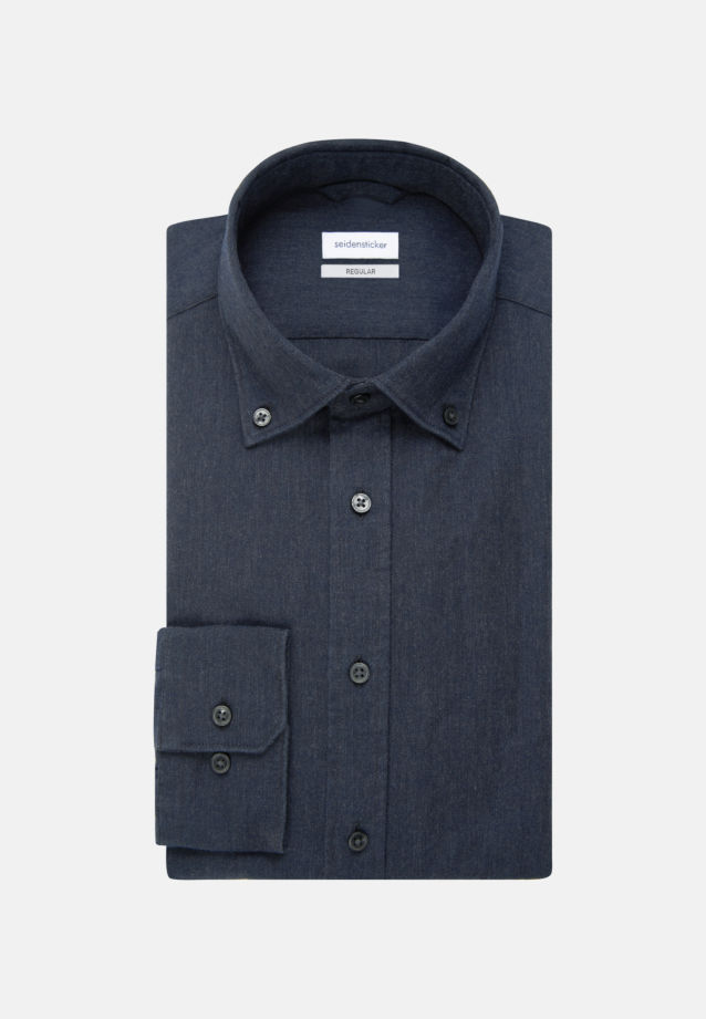 Panama Business Shirt in Regular with Button-Down-Collar in Grey |  Seidensticker Onlineshop
