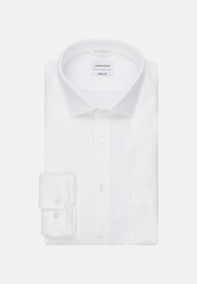 Oxford Business Hemd in Regular mit Kentkragen in Weiß |  Seidensticker Onlineshop