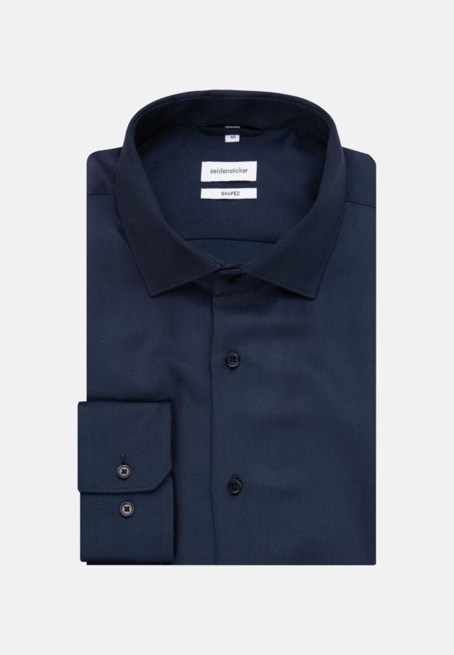 Easy-iron Twill Business Shirt in Shaped with Kent-Collar in Dark blue |  Seidensticker Onlineshop