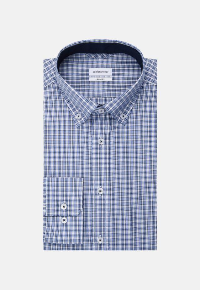 Non-iron Poplin Business Shirt in Shaped with Button-Down-Collar in Light blue |  Seidensticker Onlineshop