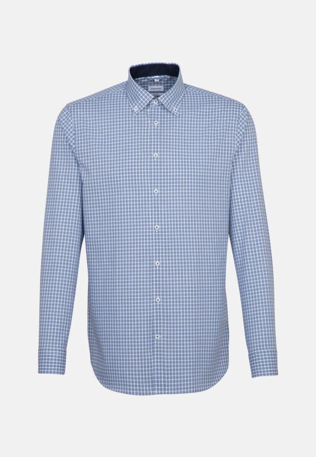 Bügelfreies Popeline Business Hemd in Shaped mit Button-Down-Kragen in Hellblau |  Seidensticker Onlineshop