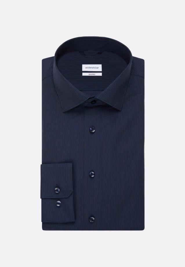Non-iron Poplin Business Shirt in Shaped with Kent-Collar in Orange |  Seidensticker Onlineshop