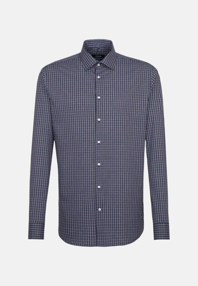 Non-iron Poplin Business Shirt in Shaped with Kent-Collar and extra long sleeve in Green    Seidensticker Onlineshop