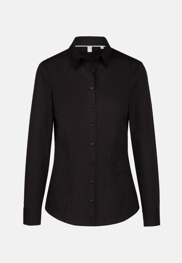Poplin Shirt Blouse made of 96% Cotton 4% Elastane in schwarz |  Seidensticker Onlineshop