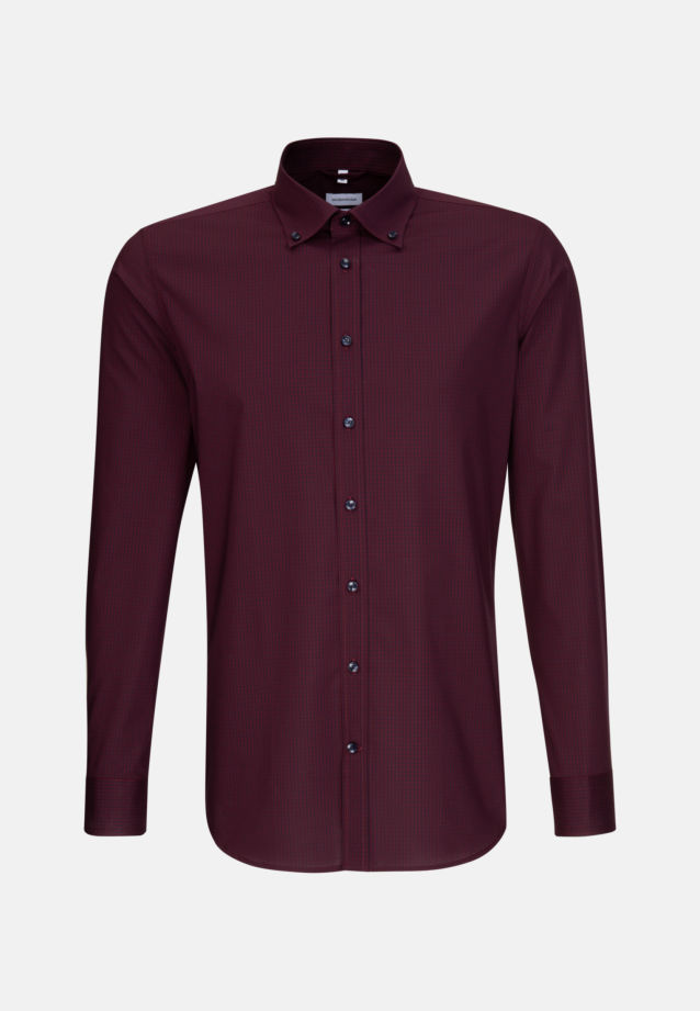 Non-iron Poplin Business Shirt in X-Slim with Button-Down-Collar in Red |  Seidensticker Onlineshop