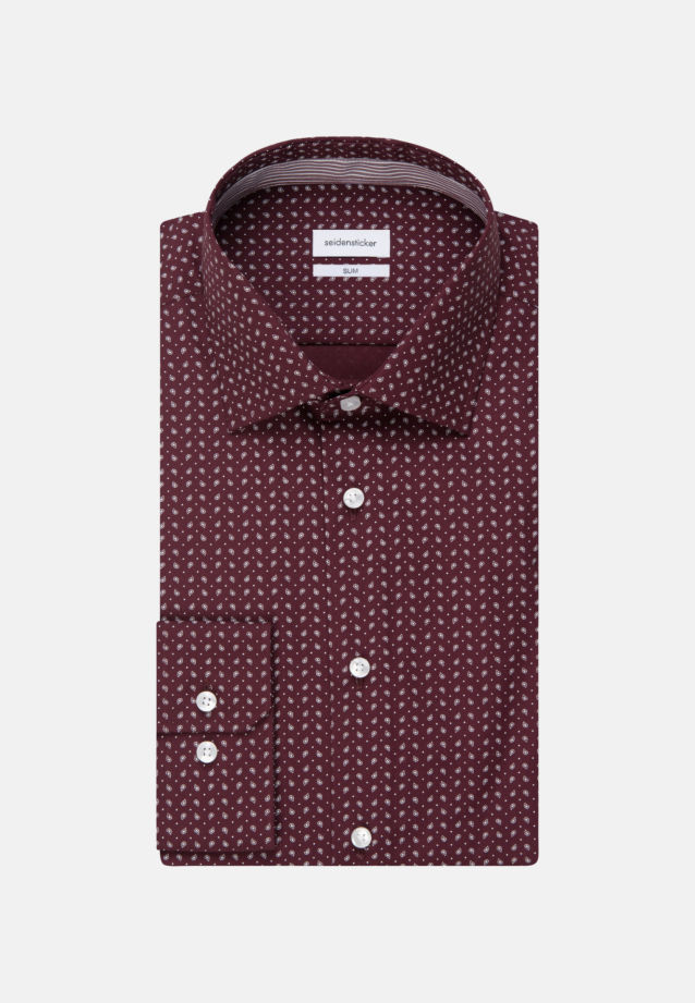 Easy-iron Poplin Business Shirt in Slim with Kent-Collar in Red |  Seidensticker Onlineshop