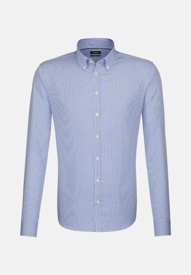 Bügelfreies Popeline Business Hemd in Tailored mit Button-Down-Kragen in Dunkelblau    Seidensticker Onlineshop