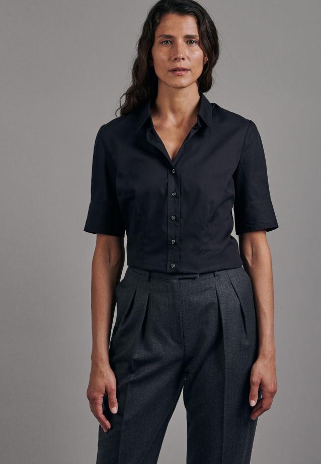 Non-iron Short sleeve Poplin Shirt Blouse made of 100% Cotton in Black |  Seidensticker Onlineshop