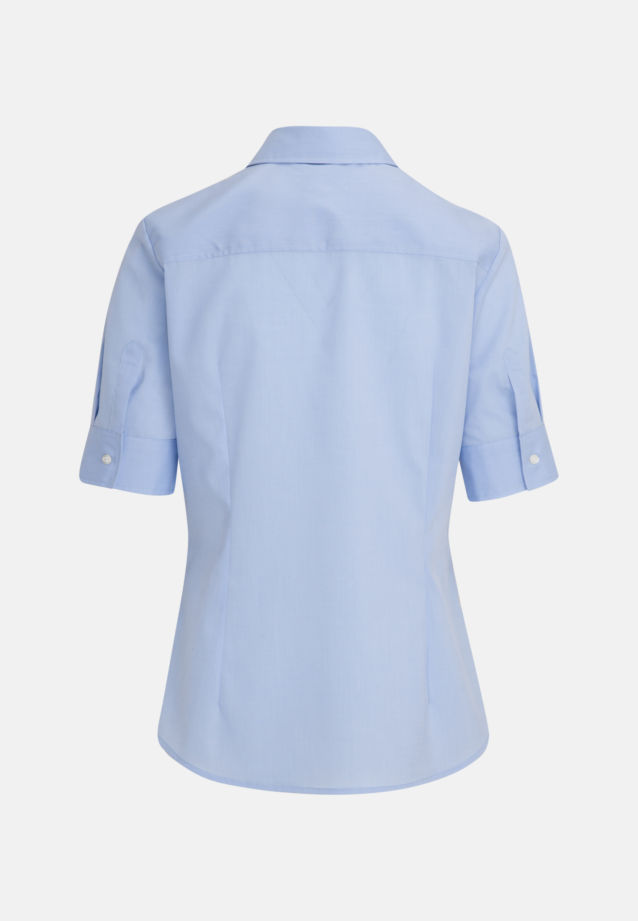 Non-iron Short arm Poplin Shirt Blouse made of 100% Cotton in Light blue |  Seidensticker Onlineshop