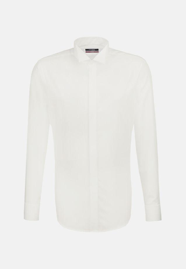Non-iron Poplin Gala Shirt in Modern with Wing Collar in ecru |  Seidensticker Onlineshop