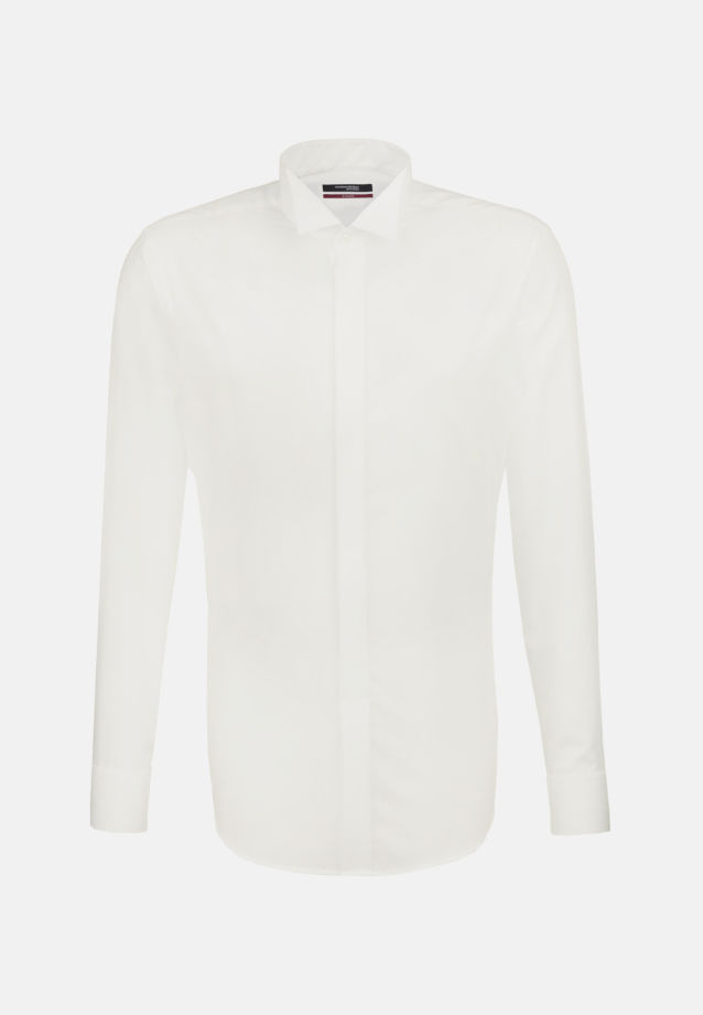 Non-iron Poplin Gala Shirt in Regular with Wing Collar in Braun |  Seidensticker Onlineshop
