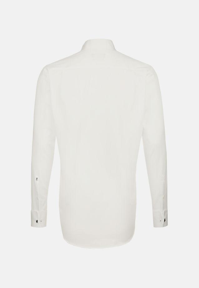 Bügelfreies Popeline Smokinghemd in Modern mit Kläppchenkragen in ecru |  Seidensticker Onlineshop