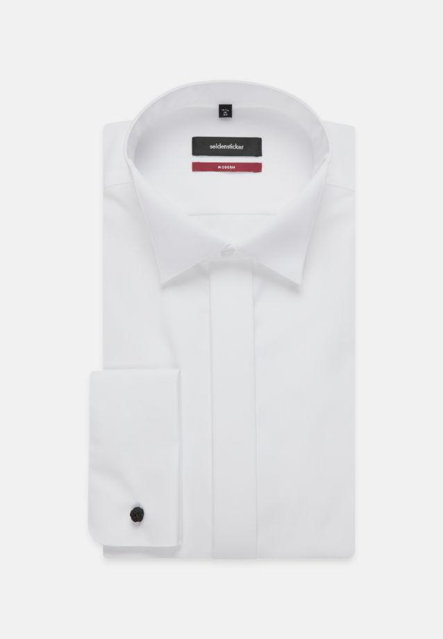 Bügelfreies Popeline Smokinghemd in Modern mit Kläppchenkragen in weiß |  Seidensticker Onlineshop