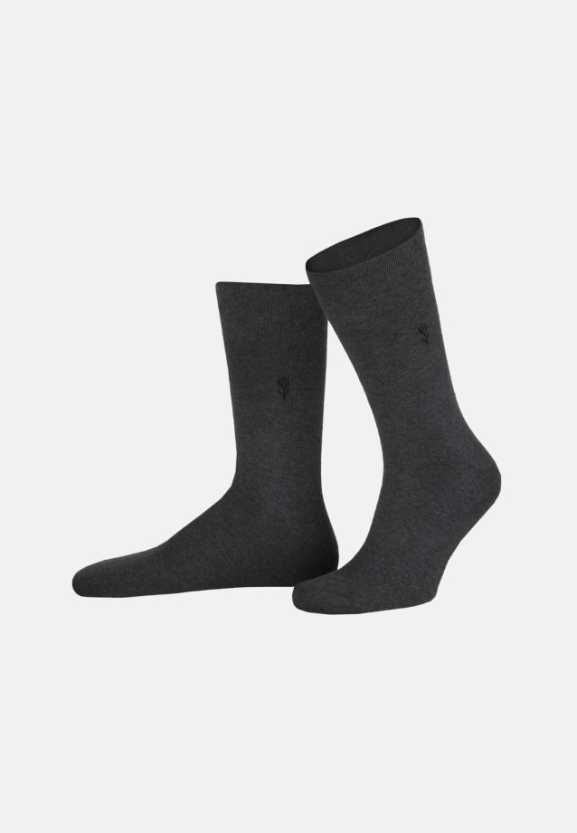 Two-Pack Socks made of 77% Cotton 20% Polyamid/Nylon 3% Elastane in Grey |  Seidensticker Onlineshop