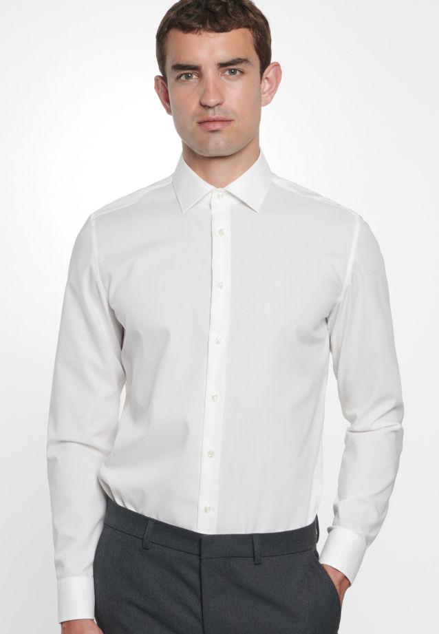 Non-iron Poplin Business Shirt in Slim with Kent-Collar in Ecru |  Seidensticker Onlineshop