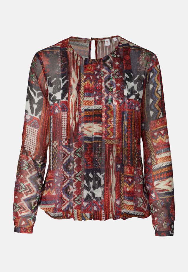 Chiffon Shirtbluse aus in Rot |  Seidensticker Onlineshop