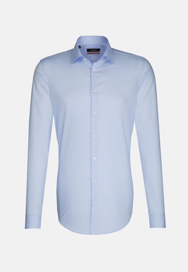 Bügelfreies Popeline Business Hemd in Slim mit Kentkragen und extra langem Arm in blau |  Seidensticker Onlineshop