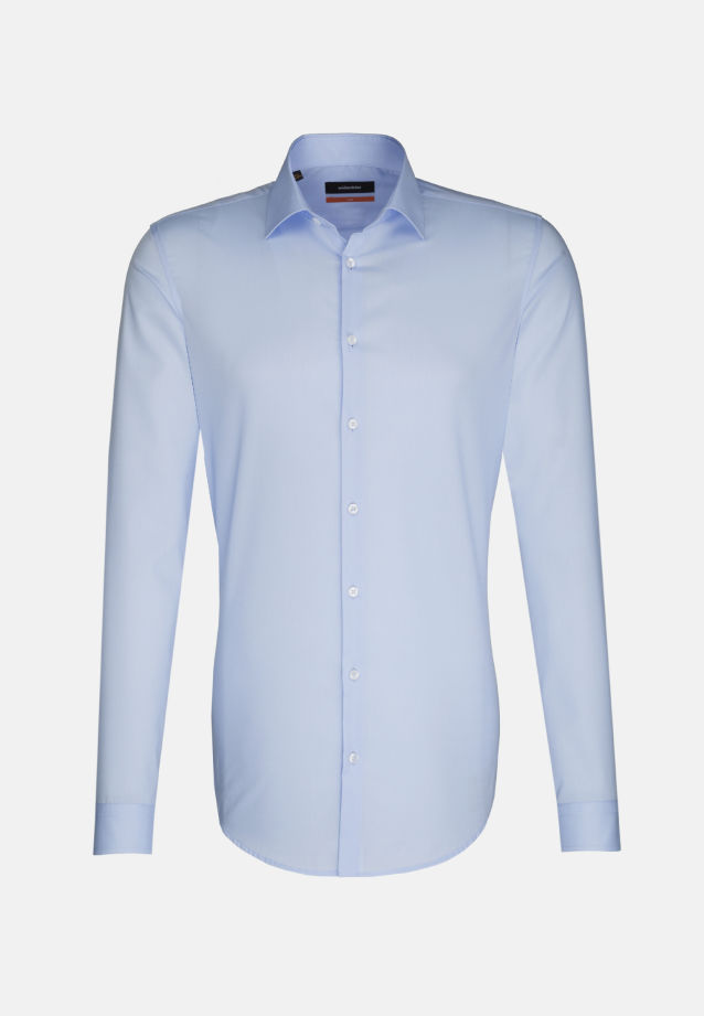 Non-iron Poplin Business Shirt in Slim with Kent-Collar and extra long arm in Hellblau |  Seidensticker Onlineshop