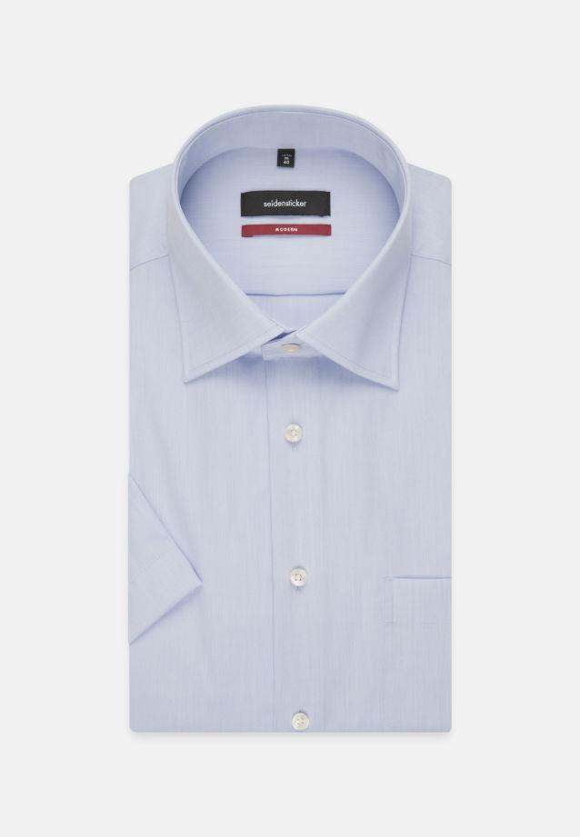 Non-iron Chambray Short arm Business Shirt in Regular with Kent-Collar in Medium blue |  Seidensticker Onlineshop