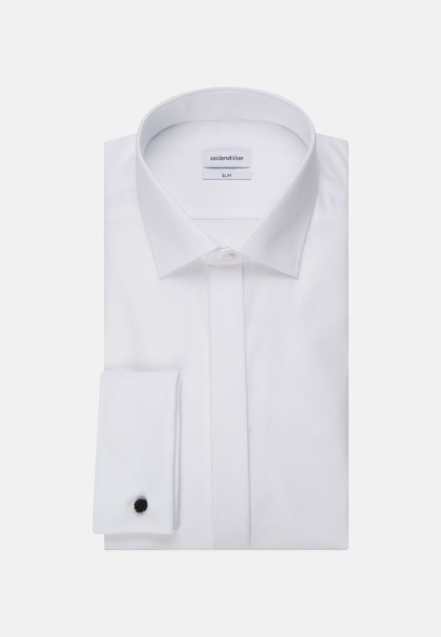 Non-iron Poplin Gala Shirt in Slim with Kent-Collar in White |  Seidensticker Onlineshop